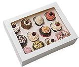 Magic Ideas Cupcake box mit 12 Löchern in hochwertiger Qualität (10 Stück) - Muffin Aufbewahrung...