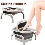 LKJCZ Fubad Massage Eimer faltbar, mit Hitze Funktion/warm halten, Design Faltbare und Compact...