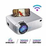 Mini Beamer, LED tragbarer Projektor WiFi Wireless gleicher Bildschirm Heimkino mit USB / TF /...