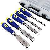 S&R Stechbeitel Set 5 Stück: 6, 12, 20, 25, 32mm, Mehrkomponenten-Hüllen, Professional, im...