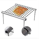 Zhuowei Tragbarer Grill Camping Gitter faltbar Halterung für Grill BBQ Abnehmbar Mini Grill...