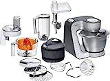 Bosch MUM56340 Styline Küchenmaschine, Kunststoff, 3.9 liters, silber/anthrazit