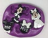 Silikonform für Bräutigam, Micky und Minnie Maus