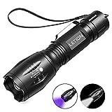 LETION 2 in 1 UV Lampe, Schwarzlicht und Weißes Licht Taschenlampe LED,395nm Ultraviolette...