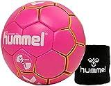 Hummel Kinder Handball Kids 091792 Größe 00/0/1 im Set mit Schweißband Old School Small Wristband...