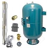 150 L Hauswasserwerk Hauswasserautomat Tiefbrunnenpumpe 7,3b 4200l/h Sand bis 5%