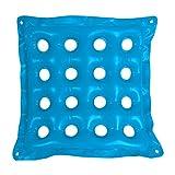 SUNSHINEMALL Luftaufblasbares Sitzkissen, 48,3 x 48,3 cm, PVC, quadratisch, atmungsaktiv und bequem...
