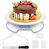 AimTop Tortenplatte Drehbar Tortenständer Kuchen Drehteller Cake Decorating Turntable mit 1 Stück...