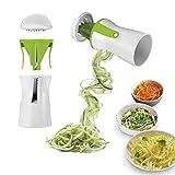 GOURMETmaxx 07293 Julienne- & Spiralschneider | Für Gemüse & Obst | Für Gemüse-Spaghetti &...