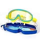 WFDA HD Schwimmbrille Junge Wasserdicht Brille Kinder Schwimmen Anti-Fog-Mädchen-große Feld...