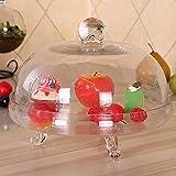 zZZ Nachmittags-Tee-Kuchen-Abdeckung Glasabdeckung Gebäck Fach Kuchenbehälter Obst Dessert Tray 28...