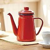 NO LOGO QXP-ZYP 1.1L Emaille Kaffeekanne gießen über Milch Wasser-Krug Pitcher Barista Teekanne...