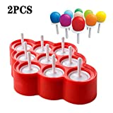 FXXJ 2 PCS Ice Pop Mold Silikon-Pop, Hersteller BPA frei Popsicle-Formen Grokchenwerkzeug fr DIY...