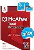 McAfee Total Protection 2020   5 Gerte   1 Jahr   PC/Mac/Smartphone/Tablet   Aktivierungscode per...