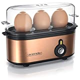 Arendo - Edelstahl Eierkocher Threecook - Egg Cooker - EIN AUS-Schalter - Wählbarer Härtegrad -...