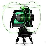 Kreuzlinienlaser 25M, Careslong 3 x 360 grüner Laserpegel selbstausgleichende, grüner Strahl 3D 12...
