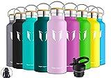 Super Sparrow Trinkflasche Edelstahl Wasserflasche - 750ml - Isolier Flasche mit Perfekte...