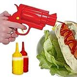 Lustiger Gewürz-Spender – Kunststoff Ketchup Senf BBQ Hot Sauce Container Squeeze Gun Form...