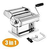 Elegant Life Nudelmaschine Pasta Maker Deluxe Set, Robust Hausgemachte Nudelmaschine mit 7...