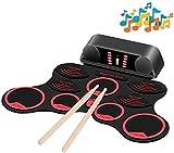 WMDXTM Elektronische Trommel USB-Ladehandrolle Drumkit Convenient Musikspielzeuge Farbe Eingebaute...