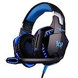 E-Sport-Spiel-Kopfhörer, Head-Mounted-Subwoofer mit Mikrofon, PS4 Xbox One PC Laptop Tablet Telefon...