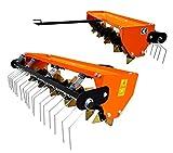Rasenlüfter Vertikutierer Rasentraktor 115CM Multigerät'+Stützräder+ (40)