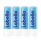 Labello Hydro Care im 4er Pack (4 x 4,8 g), Lippenpflege ohne Mineralöle für trockene Lippen,...