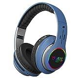 ZIQI Bluetooth Kopfhörer über Ohr, Hi-Fi Stereo Wireless Headset Faltbare Unterstützungskarte,...
