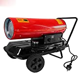 WEIERR Ölheizgebläse 30KW Ölheizer Ölheizung mit Digitalanzeige und integriertem Thermostat...