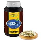 VITA IDEAL  Wermut (Artemisia absinthium) 90 Kapseln je 400mg, aus rein natürlichen Kräutern, ohne...