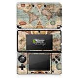 DeinDesign Skin kompatibel mit Nintendo 3 DS Aufkleber Sticker Folie Vintage Weltkarte Karte Map