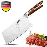 Aroma House Hackmesser Küchenmesser Chinesisches Kochmesser 7 Zoll Deutsch Hochgekohlter Edelstahl...