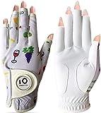 2020 neu Golfhandschuh Damen Linke Hand Rechte Mit Ball Marker Allwetter Leder Griff Mode Bedruckter...