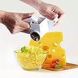 Rotierende Käsereibe, Käseschneider mit scharfen Edelstahlklingen Trommel leicht zu reinigen,...