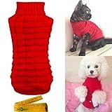 Wiz BBQT Strickpullover mit Zopfmuster und Rollkragenpullover für Hunde und Katzen