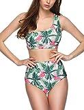 Verano Playa Badeanzug für Damen, Blumenmuster, einschulterfrei, zweiteilig - Mehrfarbig - Large...