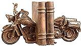 hjbjb Tischplatten Dekoration,Retro Motorrad Buchstützen Buch Display Büro Weichharz Ornamente...