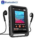 MP3 Player, 16GB Bluetooth MP3 Player mit 2.4' LCD Touchscreen, Sports MP3 Player mit Kopfhrer/FM...