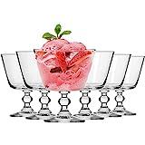 Krosno Eisbecher Eisschale Eisglser Eiskaffe   Fruchtgeleeschale   Set von 6   380 ML   Krista...