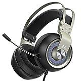 Mpow Gaming Headset EG3 Pro, PS4-Gaming Headset mit 50-mm-Treibern, Stereo-Surround-Sound Headset...