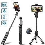 CSZZL Bluetooth Selfie Stick Stativ erweiterbar. Selfie-Stick mit drahtlosem Fernauslöser und...