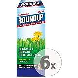Gardopia Sparpaket: Roundup Rasen-Unkrautfrei Konzentrat Unkrautvernichter, 6 x 500 ml + Zeckenzange...