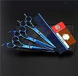 IANSISI Kinderkamera Geschenk Scheren-Set 7,0 Zoll Professional Japan 440c Hundetrimmer Haarschneide...