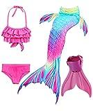 shepretty Meerjungfrauenschwanz zum Schwimmen für Kinder,DH52,140