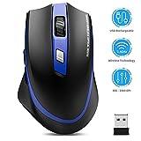 TedGem Kabellos Maus, 2.4G Aufladung Funkmaus, Wireless Maus, Laptop Maus mit USB Nano Empfänger, 6...