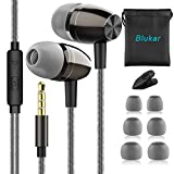 In Ear Kopfhörer, Blukar Stereo Ohrhörer mit Mikrofon, Ohrstöpseln und Premium HiFi-Klang,...