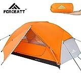 Forceatt Zelt 2 Personen Camping Zelt, 2 Doors Wasserdicht & Winddicht & Insektensicher 3-4 Saison...