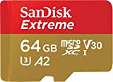 SanDisk Extreme microSDXC 64GB + SD Adapter + Rescue Pro Deluxe 160MB/s A2 C10 V30 UHS-I U3