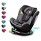 Lionelo Bastiaan Kindersitz Auto Kindersitz Isofix und Top Tether Kindersitz Drehbar um 360 Grad...