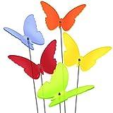 SUNPLAY Sonnenfnger 'Schmetterlinge Maddy' im FARBMIX, 5 Stck zu je 20 cm Durchmesser im Set + 70 cm...